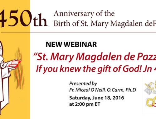 Webinar: St. Mary Magdalen de' Pazzi Webinar
